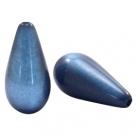 #07.04 - 1 Stück Polaris-Elements Perlen Tropfen Super - Ø 20x10 mm - shiny night blue