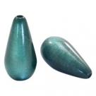 #08.04 - 1 Stück Polaris-Elements Perlen Tropfen Super - Ø 20x10 mm - shiny deep lake teal blue