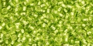10 g TOHO Seed Beads 11/0 TR-11-0024 Lime Green Silver-Lined (A,D)