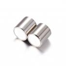 1 Magnet-Verschluss Ø 20x9mm zum Kleben - Edelstahl