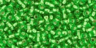 10 g TOHO Seed Beads 11/0 TR-11-0027 Peridot Silver-Lined (A,D)