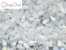 #01.00.04 - 25 Stück DropDuo Beads 3x6 mm - Crystal Etched AB Full