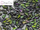 #01.07.02 - 25 Stück DropDuo Beads 3x6 mm - Crystal Etched Full Vitrail
