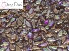 #01.10.01 - 25 Stück DropDuo Beads 3x6 mm - Crystal Copper Rainbow