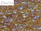 #01.10.02 - 25 Stück DropDuo Beads 3x6 mm - Crystal Orange Rainbow