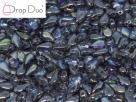 #01.10.03 - 25 Stück DropDuo Beads 3x6 mm - Crystal Graphite Rainbow
