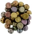 #00.01 25 Stck. 2-Hole CzechMates Cabochon 7mm - Purple Iris Gold