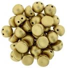 #00.02 25 Stck. 2-Hole CzechMates Cabochon 7mm - Aztec Gold