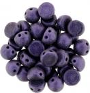 #03.01 25 Stck. 2-Hole CzechMates Cabochon 7mm - Metallic Suede - Purple