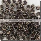 #04.01 - 50 Stück Teacup Beads 2x4 mm - Jet Bronze Picasso