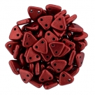#43 10g Triangle-Beads 6mm - Color Trends: Saturated Metallic Tomato Red