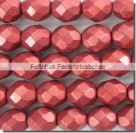 #06.0 25 Stück - 8,0 mm Glasschliffperlen - ColorTrends: ColorTrends: Saturated Metallic Cherry Tomato