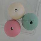 1 Stück  Silikonperle 16 mm - cream matt