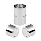 1 Magnet-Verschluss Ø 20x06mm zum Kleben - rhodium
