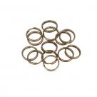 200 Stück Spaltringe 8,0x1,0mm dick - antique bronze