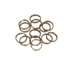 200 Stück Spaltringe 10x1,0mm dick - antique bronze