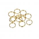 200 Stück Spaltringe 10x1,0mm dick - gold