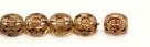 #01.00 - 25 Stück oCto Bead 4x8 mm - crystal travertin