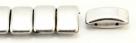 #01.04 - 10 Stück Zweiloch-Glasperle 9x17 mm - Crystal Labrador Full