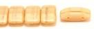 #07.00 - 10 Stück Zweiloch-Glasperle 9x17 mm - Beige