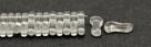 #00.00 - 50 Stück Link Beads 3x10 mm - Crystal