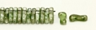 #00.00 - 50 Stück Link Beads 3x10 mm - Crystal Green Luster