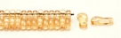 #00.00 - 50 Stück Link Beads 3x10 mm - Crystal Champagne Luster