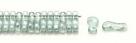 #00.00 - 50 Stück Link Beads 3x10 mm - Crystal Seafoam Luster