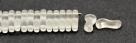 #00.00 - 50 Stück Link Beads 3x10 mm - Crystal Matte