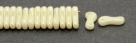 #00.00 - 50 Stück Link Beads 3x10 mm - Chalk White Lt Champagne Luster