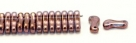 #00.00 - 50 Stück Link Beads 3x10 mm - Chalk White Copper Luster