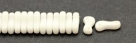 #00.00 - 50 Stück Link Beads 3x10 mm - Chalk White Matte