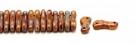 #00.00 - 50 Stück Link Beads 3x10 mm - Beige Dk Travertin
