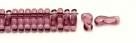 #00.00 - 50 Stück Link Beads 3x10 mm - Amethyst Transparent