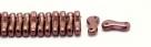 #00.00 - 50 Stück Link Beads 3x10 mm - Amethyst Copper Luster