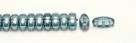 #01.01 - 25 Stück CALI Beads 3x8 mm - Crystal Blue Luster
