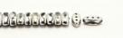 #01.10 - 25 Stück CALI Beads 3x8 mm - Crystal Labrador Full