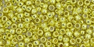 10 g TOHO Seed Beads 11/0 TR-11-PF590 - Permanent Finish - Galvanized Lemon Gold (A,C,D)