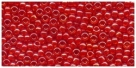 10 g TOHO Seed Beads 11/0 TR-11-0958 - Inside-Color Crystal/Orange (E)