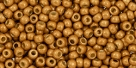 10 g TOHO Seed Beads 11/0 TR-11-PF591 F - Permanent Finish - Matte Galvanized Golden Mustard (Old Gold) (A,C,D)