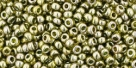 10 g TOHO Seed Beads 11/0 TR-11-0457 - Gold Lustered Green Tea (C)