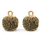 1 Stück Glitter Mesh PomPom - Gold Anthracite (Gold)