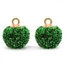 1 Stück Glitter Mesh PomPom - Green (Gold)