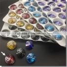 1 Glas-Rivoli 14 mm - Patina - siam/silver