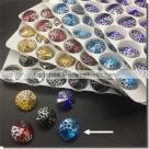 1 Glas-Rivoli 14 mm - Patina - aqua/silver
