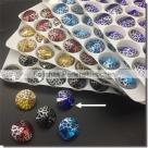 1 Glas-Rivoli 14 mm - Patina - cobalt/silver
