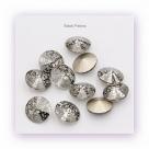 1 Glas-Rivoli 14 mm - Patina - crystal/black