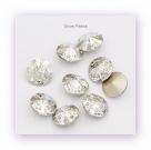 1 Glas-Rivoli 14 mm - Patina - crystal/silver