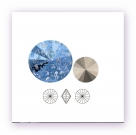 1 Glas-Rivoli 14 mm - Patina - crystal/blue