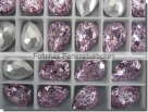 1 Glas-Tropfen Ø 18x13 mm Patina - rosaline/silber